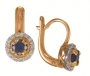 Серьги золотые с сапфирами и бриллиантами, арт: ER4460S