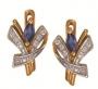 Серьги золотые с сапфирами и бриллиантами, арт: ER4507S