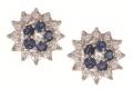 Серьги золотые с сапфирами и бриллиантами, арт: CE3318SA