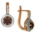 Серьги золотые с рубинами и бриллиантами, арт: ER3360R