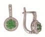 Серьги золотые с изумрудами и бриллиантами, арт: ER3360E
