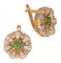 Серьги золотые с изумрудами и бриллиантами, арт: ER4607E