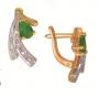 Серьги золотые с изумрудами и бриллиантами, арт: ER4283E
