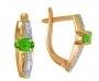 Серьги золотые с изумрудами и бриллиантами, арт: ER3572E