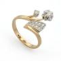 Золотые кольца с бриллиантами, оригинальный дизайн