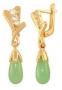 Серьги золотые с хризопразами и топазами, арт: С-814