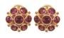Серьги золотые с гранатами и рубинами, арт: С-1218