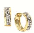 Серьги золотые с бриллиантами, арт: ERT2197