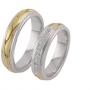 Обручальные кольца с бриллиантами из золота, арт: ТС 1613