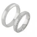 Обручальные кольца с бриллиантами из золота, арт: ТС 6016