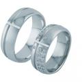 Обручальные кольца с бриллиантами из золота, арт: ТС 3403