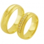 Обручальные кольца с бриллиантами из золота, арт: ТС 3400