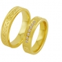 Обручальные кольца с бриллиантами из золота, арт: ТС 3361