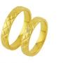 Обручальные кольца с бриллиантами из золота, арт: ТС 3351