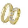 Обручальные кольца с бриллиантами из золота, арт: ТС 1678