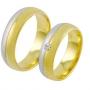 Обручальные кольца с бриллиантами из золота, арт: ТС 1563