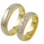 Обручальные кольца с бриллиантами из золота, арт: ТС 3424