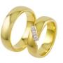 Обручальные кольца с бриллиантами из золота, арт: ТС 3241