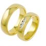Обручальные кольца с бриллиантами из золота, арт: ТС 3162