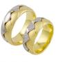 Обручальные кольца с бриллиантами из золота, арт: ТС 2261