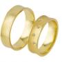 Обручальные кольца с бриллиантами из золота, арт: ТС 1736