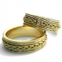 Обручальные кольца с бриллиантом из золота 585 пробы, арт: ТС 1567