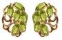 Серьги золотые с хризолитами, арт: С-135