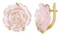 Серьги золотые с розовым кварцем, арт: С-12179