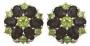 Серьги золотые с раухтопазами и хризолитами, арт: С-1246