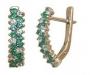 Серьги золотые с изумрудами и бриллиантами, арт: С-217.1