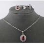 Комплект бижутерии «Ксения рубин»