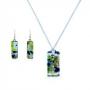 Комплект из муранского стекла, арт. 06124020_green