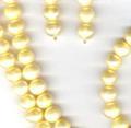 Комплект украшений с цветным - желтым жемчугом натуральным