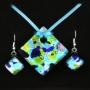 Комплект Коломбина из муранского стекла, арт. 06123030